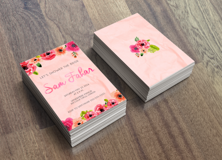 Paper Flowers BridalInvitations