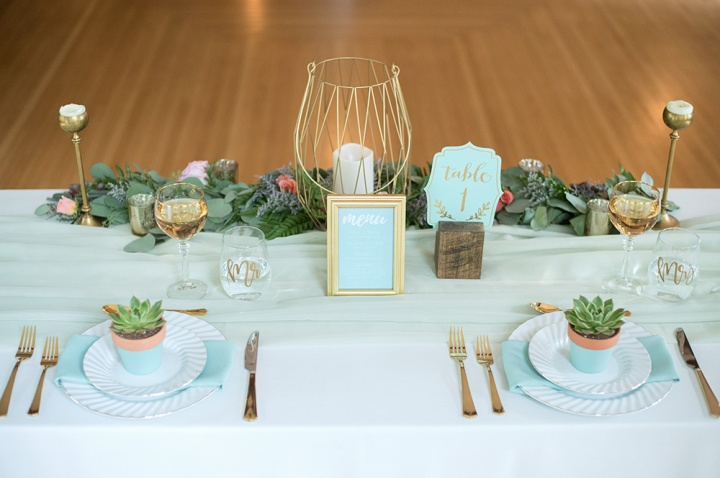 Mint & Gold Heritage Home Wedding